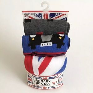 Carnaby Sock Co. London England 3-Pack Mens Socks